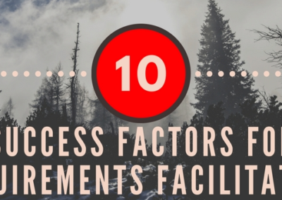 Infographic: Top 10 Success Factors for Requirements Facilitation