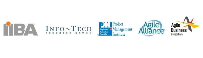 Industry Alliance: IIBA, PMI Institute, Info-Tech Research Group, Agile Alliance