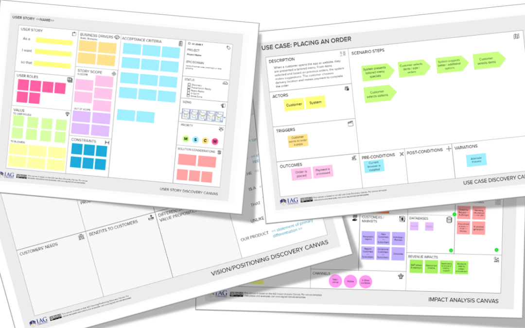 Discovery Canvases: The indispensable visual conversation tool for Business Analysts and Agile Teams