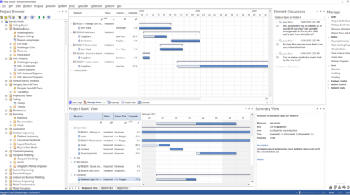 Enterprise Architect Ultimate Edition: Project Gantt View